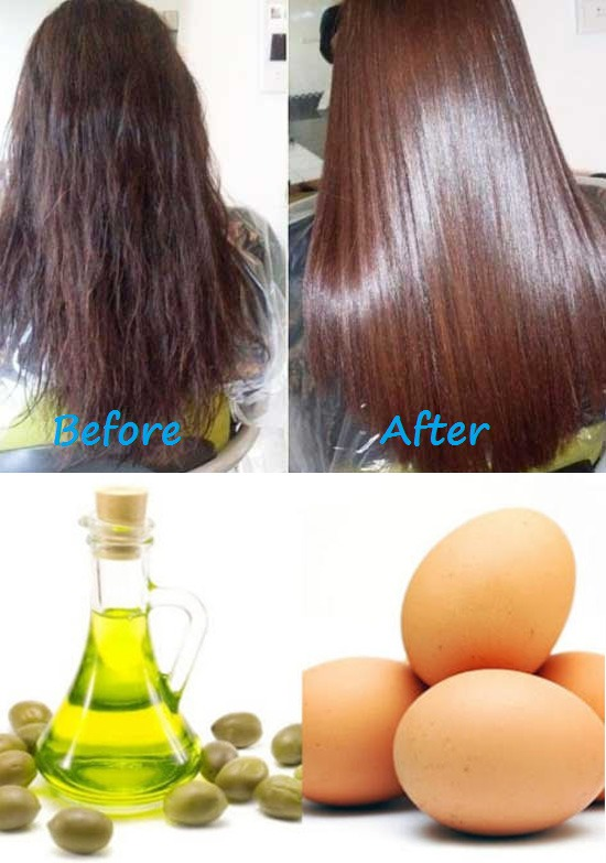 Egg And Olive Oil Hair Pack