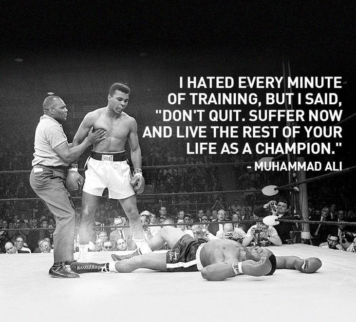 Muhammad ali champion quote