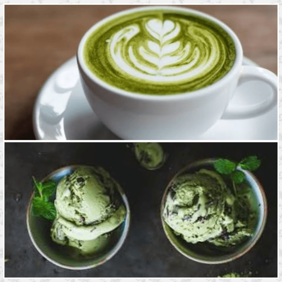 Matcha Latte and Ice Cream