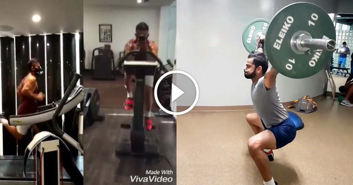Virat Kohli Workout Videos Revealing His Fitness Level