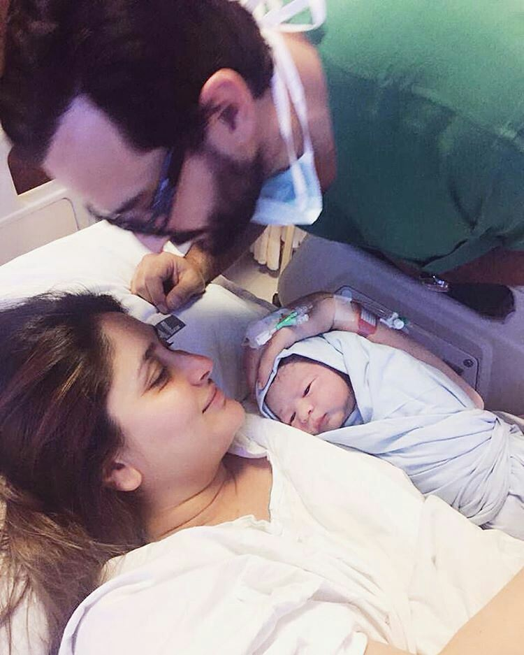 Taimur Ali Khan With Kareena-kapoor and Saif Ali khan in Hospital