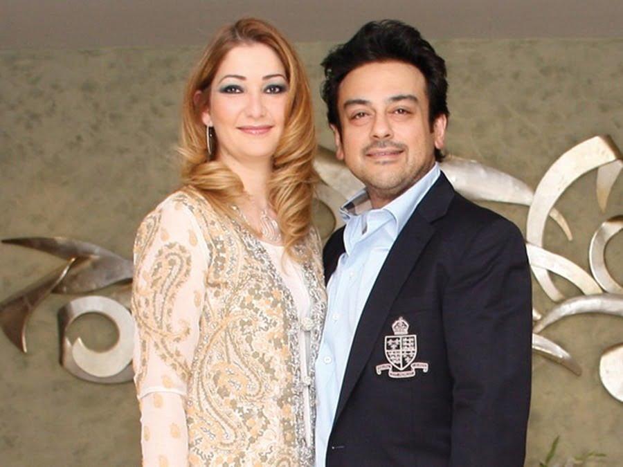 Adnan Sami Khan With His Wife Roya