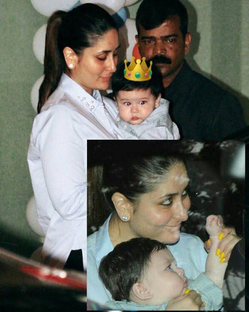 Kareena Kapoor snapped with Taimur Ali Khan in Tushar Kapoor son Lakshya birthday bash