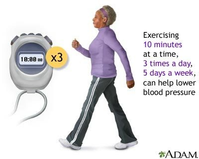 Exercise regularly can help lower blood pressure
