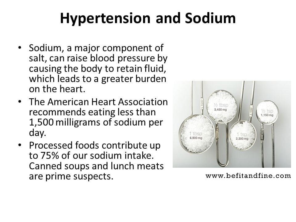Hypertension and sodium