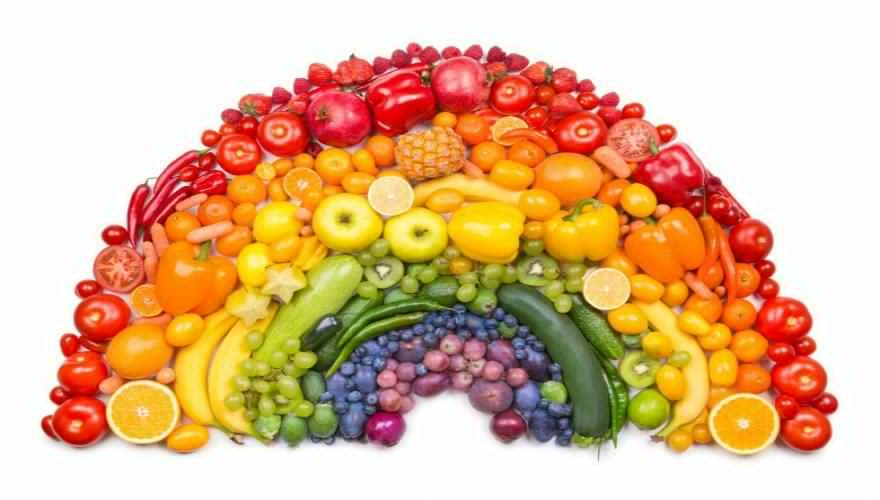 EAT VARIETY OF VEGGIES AND FRUITS