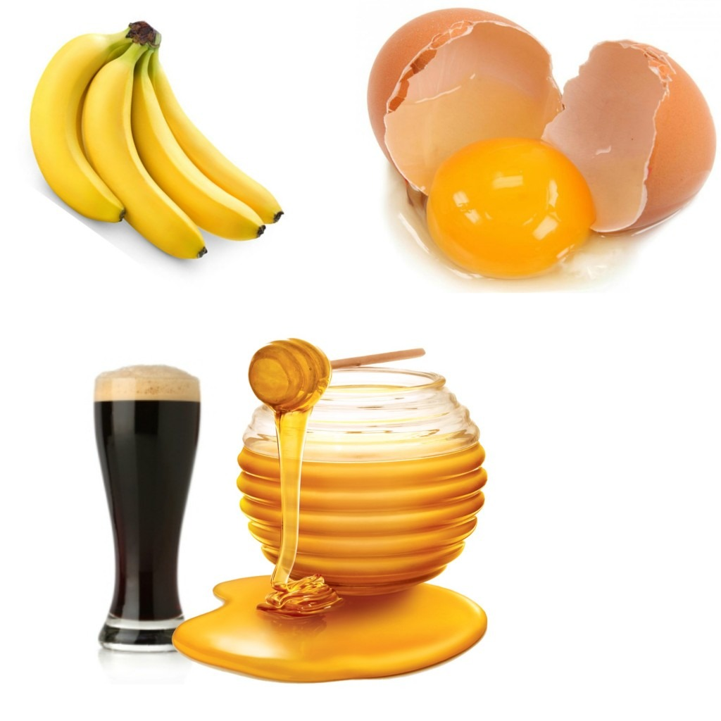 Banana Egg Beer and Honey Hair Mask