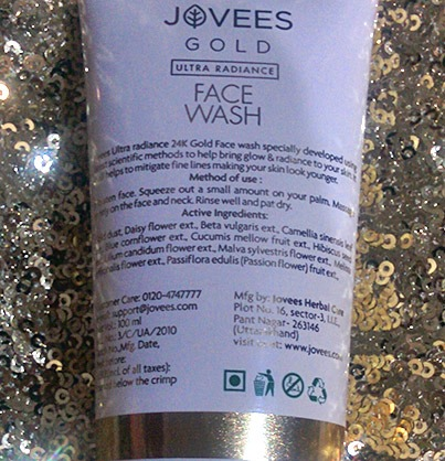 Product Description Of Jovees Gold Ultra Radiance Face Wash