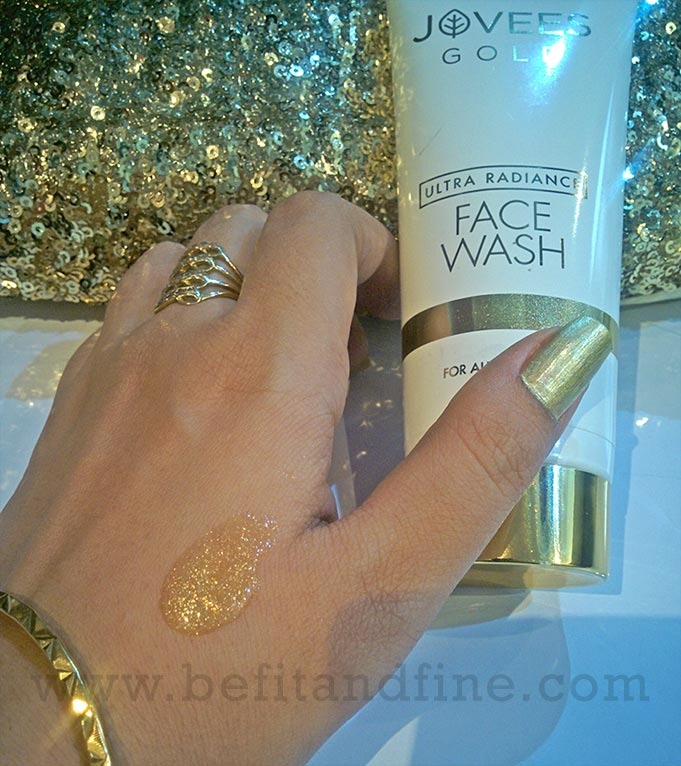 Texture And Consistency Of Jovees Gold Ultra Radiance Face Wash