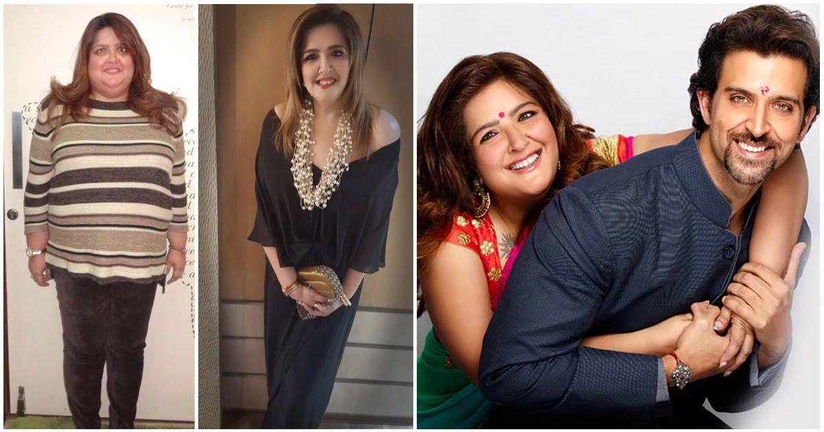 Hrithik Roshan Shared Sister Sunaina Roshan Weight Loss Picture
