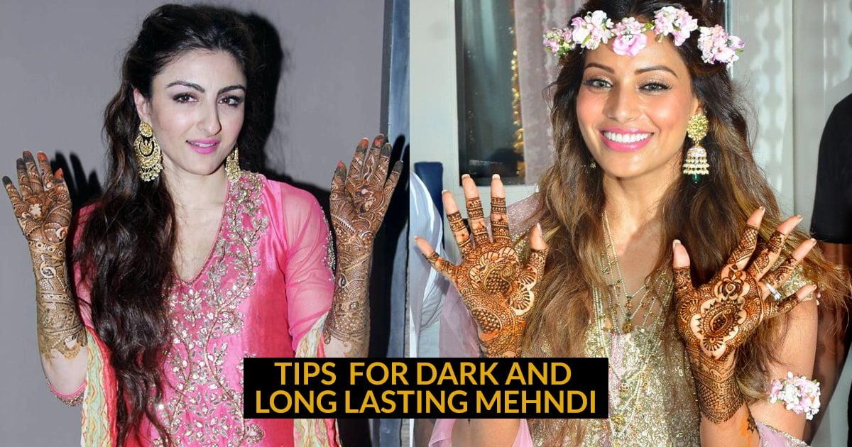 Tips For Dark And Long Lasting Mehndi