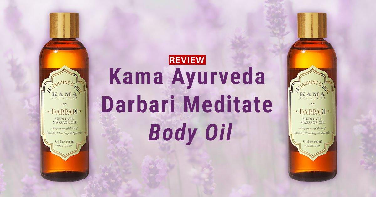 Kama Ayurveda Darbari Meditate Body Oil