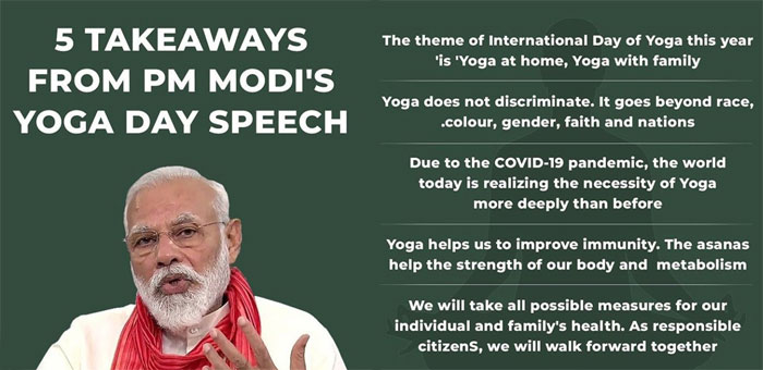 PM Modi On International yoga Day 2020